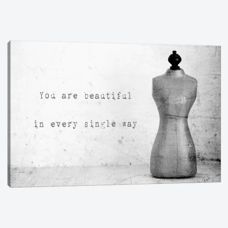 Mannequin With Quote Canvas Print #TQU165} by Tom Quartermaine Canvas Print