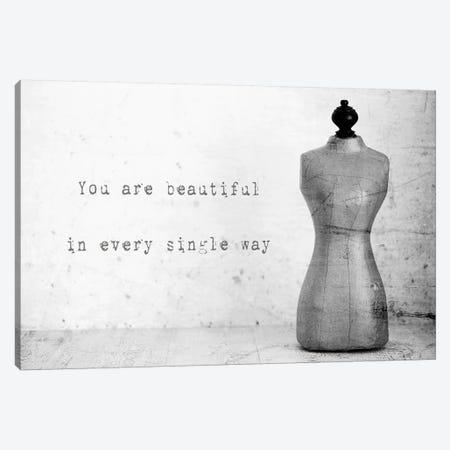 Mannequin With Quote 3-Piece Canvas #TQU165} by Tom Quartermaine Canvas Print