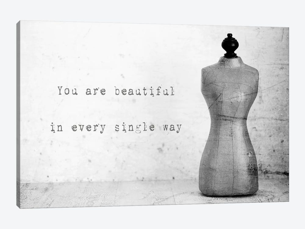 Mannequin With Quote by Tom Quartermaine 1-piece Canvas Artwork