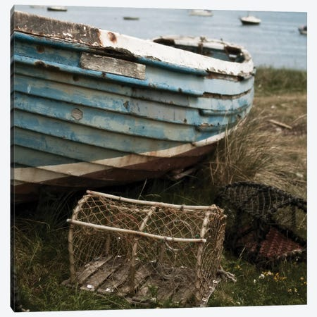 Old Boat I Canvas Print #TQU167} by Tom Quartermaine Canvas Art Print