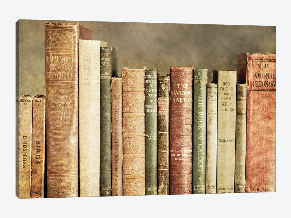 Old Books On A Shelf by Tom Quartermaine 1-piece Art Print