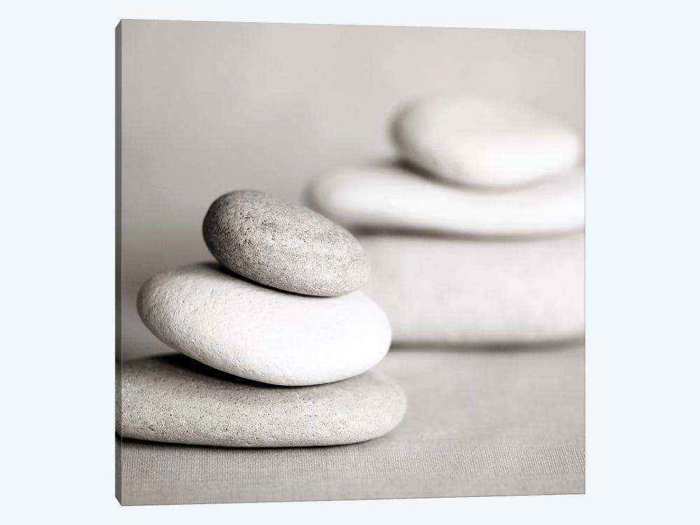Piles Of Stones B&W I by Tom Quartermaine 1-piece Canvas Artwork