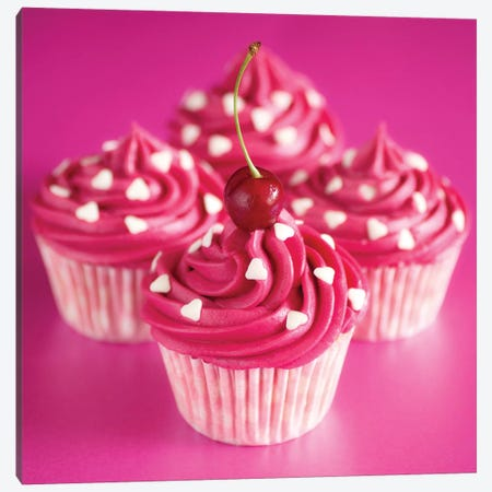 Pink Cakes On Pink I Canvas Print #TQU195} by Tom Quartermaine Canvas Artwork