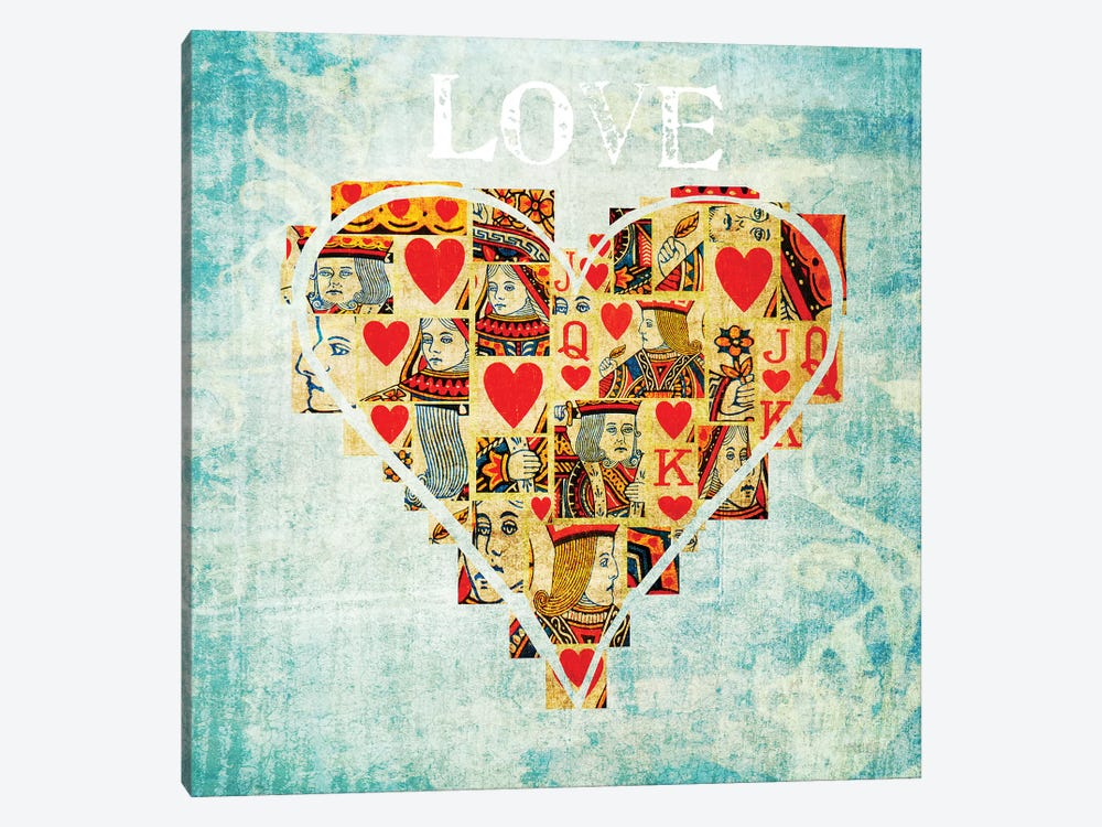 Playing Card Love 1-piece Canvas Artwork