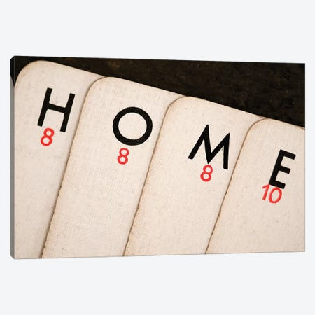 Playing Cards - Spelling 'Home' Canvas Print #TQU213} by Tom Quartermaine Canvas Artwork