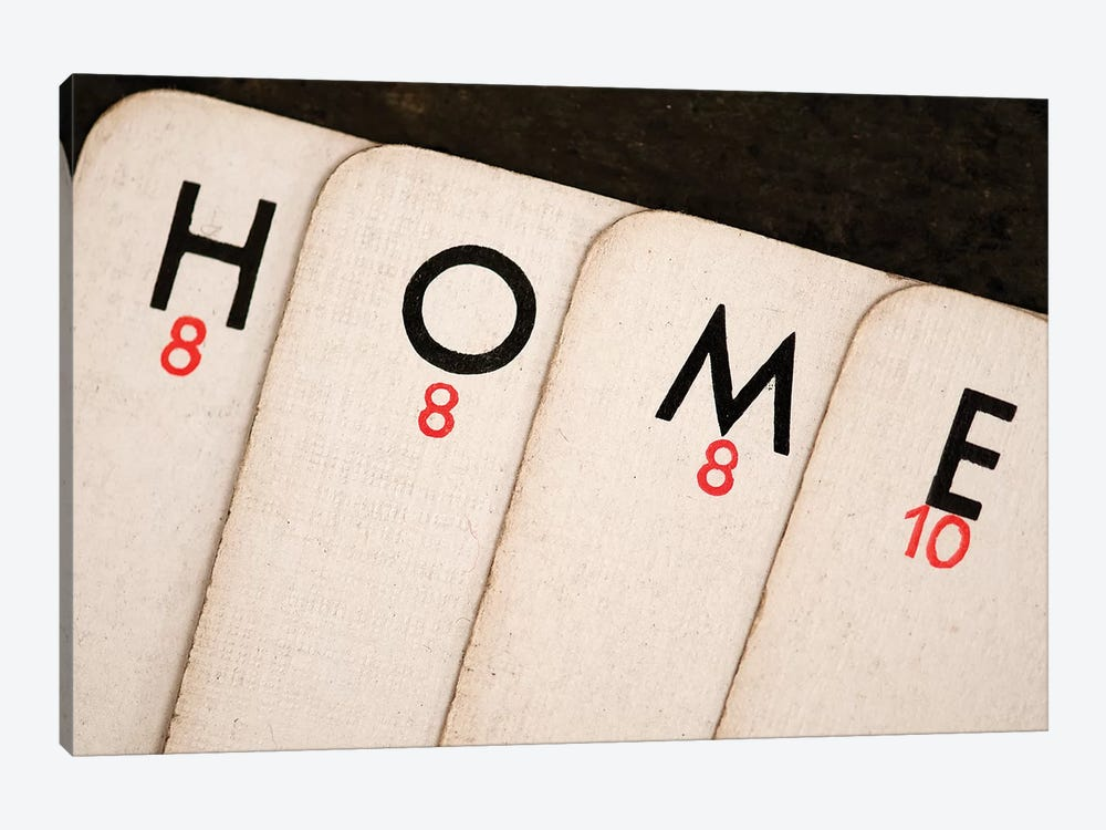 Playing Cards - Spelling 'Home' 1-piece Canvas Print