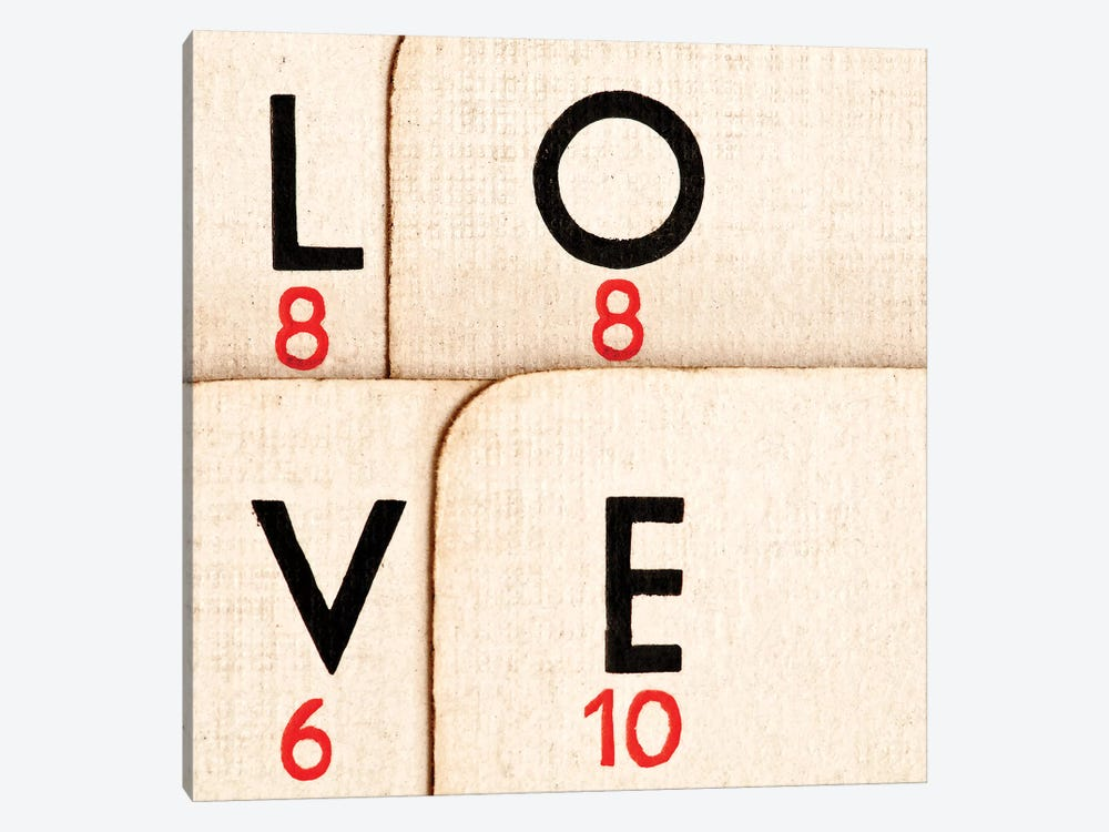 Playing Cards - Spelling 'Love' by Tom Quartermaine 1-piece Canvas Artwork