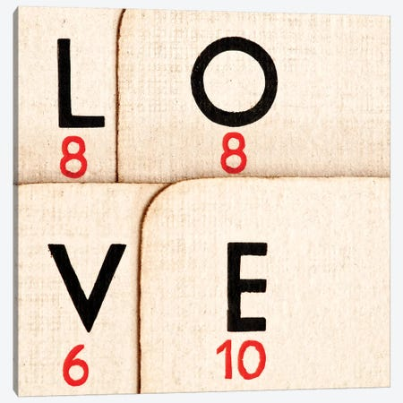 Playing Cards - Spelling 'Love' Canvas Print #TQU214} by Tom Quartermaine Canvas Print