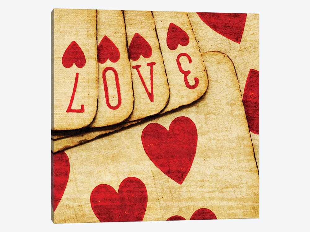 Playing Cards With Love by Tom Quartermaine 1-piece Canvas Print