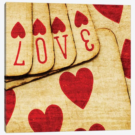 Playing Cards With Love Canvas Print #TQU215} by Tom Quartermaine Canvas Print