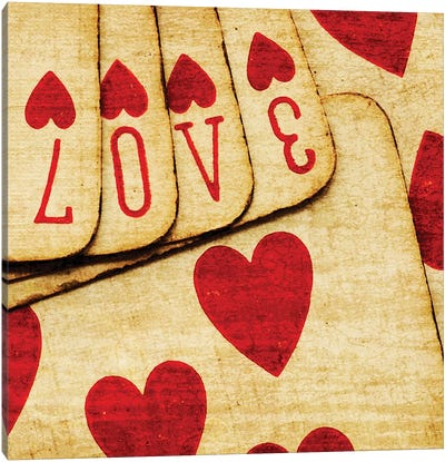 Playing Cards With Love Canvas Art Print