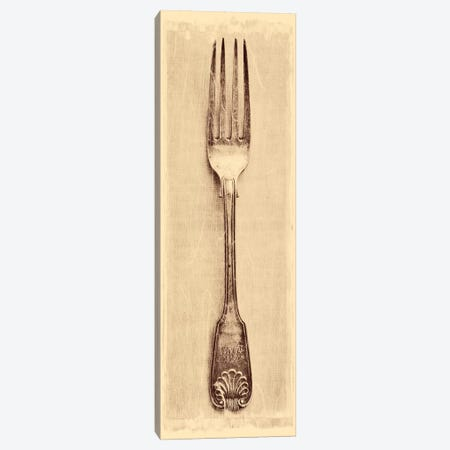 Antique Fork Canvas Print #TQU22} by Tom Quartermaine Canvas Wall Art