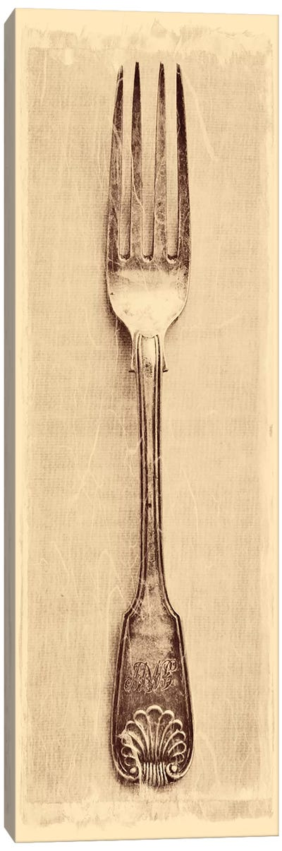 Antique Fork Canvas Art Print