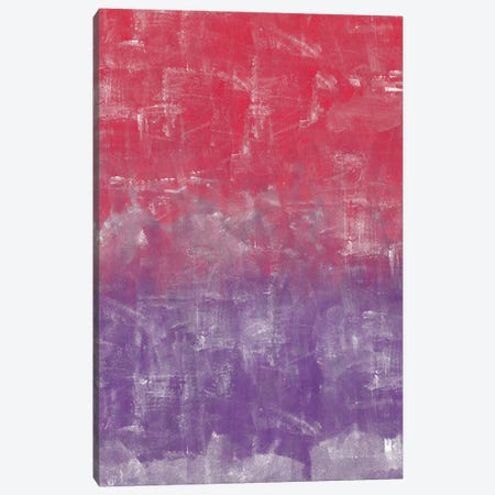 Red And Purple Abstract Painting 3-Piece Canvas #TQU235} by Tom Quartermaine Canvas Print
