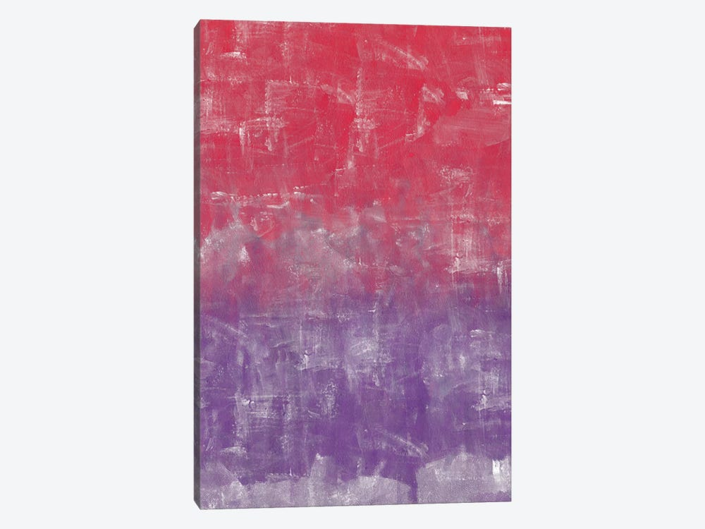 Red And Purple Abstract Painting by Tom Quartermaine 1-piece Art Print