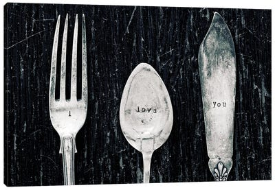 Antique Knife, Fork, And Spoon Canvas Art Print