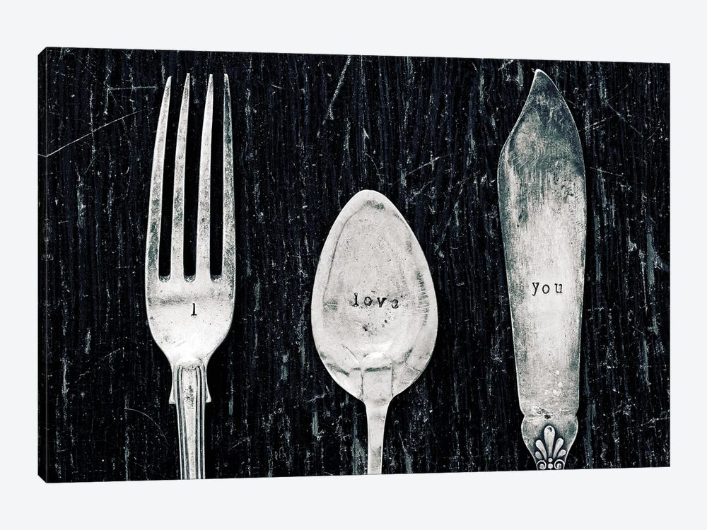 Antique Knife, Fork, And Spoon by Tom Quartermaine 1-piece Canvas Artwork