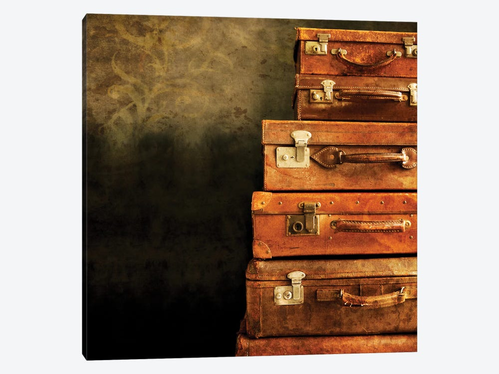Antique Luggage Suitcases by Tom Quartermaine 1-piece Art Print