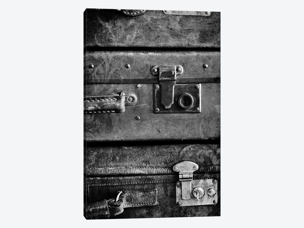 Antique Luggage Suitcases B&W by Tom Quartermaine 1-piece Canvas Art