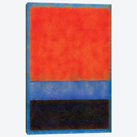 Rothko Style Red Black And Blue Canvas Print #TQU271} by Tom Quartermaine Canvas Art