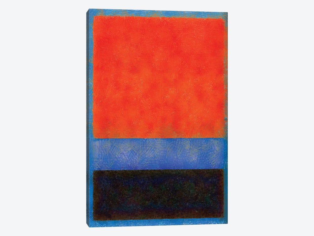 Rothko Style Red Black And Blue by Tom Quartermaine 1-piece Art Print