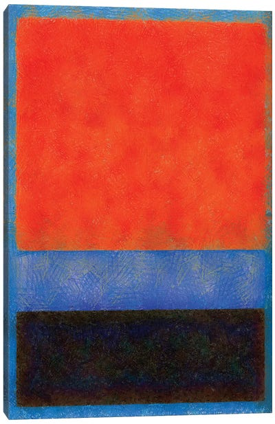 Rothko Style Red Black And Blue Canvas Art Print