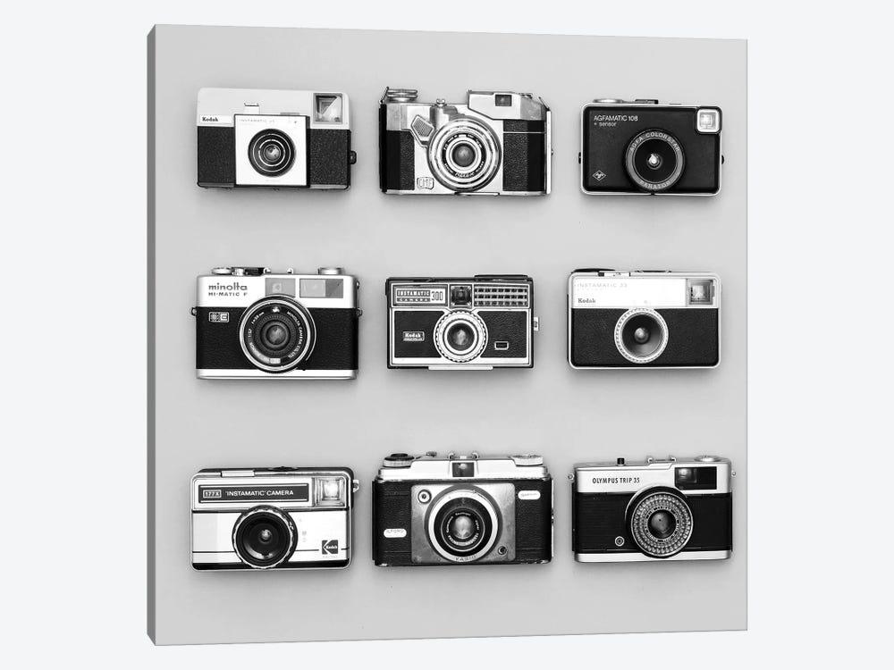 Set Of 9 Antique Cameras by Tom Quartermaine 1-piece Canvas Print