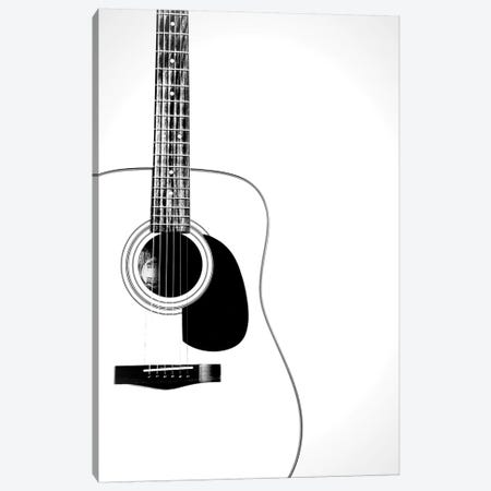 Black and White Classic Guitar Canvas Print #TQU314} by Tom Quartermaine Canvas Wall Art