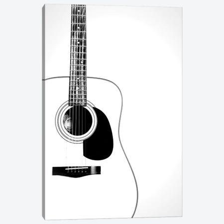 Black and White Classic Guitar Canvas Print #TQU314} by Tom Quartermaine Canvas Wall Art