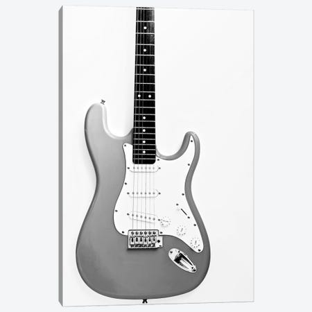 Black and White Guitar Canvas Print #TQU315} by Tom Quartermaine Canvas Wall Art