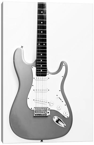 Black and White Guitar Canvas Art Print
