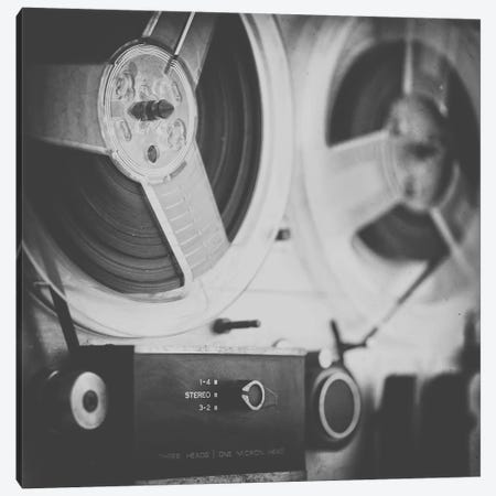 Close up Reel to Reel III Canvas Print #TQU321} by Tom Quartermaine Canvas Artwork