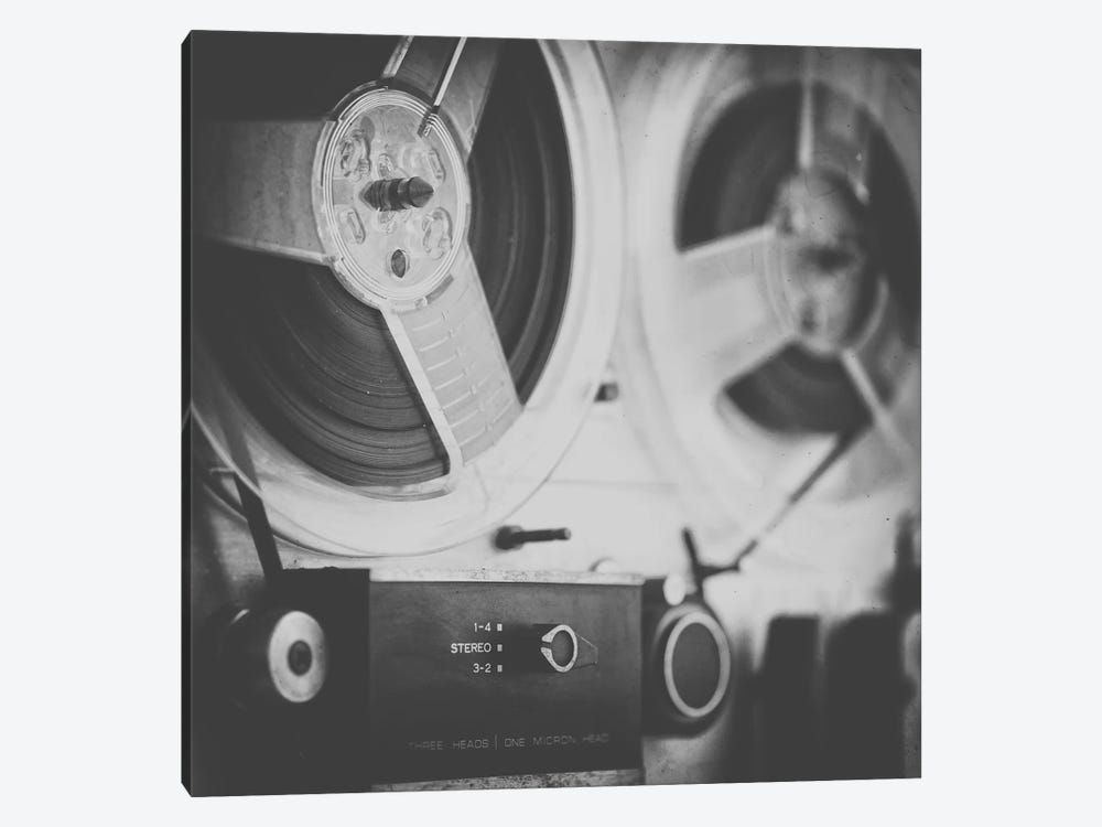 Close up Reel to Reel III by Tom Quartermaine 1-piece Canvas Art Print