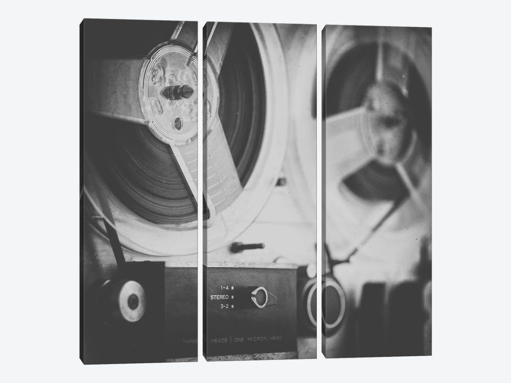 Close up Reel to Reel III by Tom Quartermaine 3-piece Canvas Print