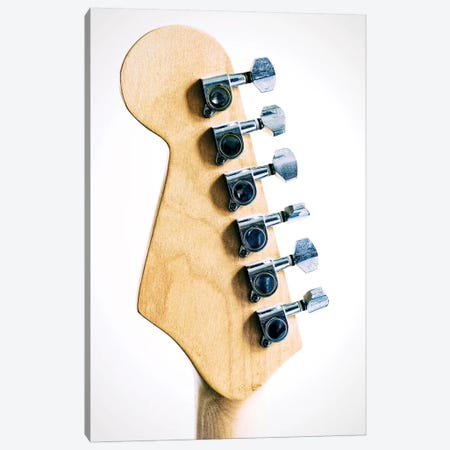 Guitar Head Canvas Print #TQU322} by Tom Quartermaine Canvas Artwork
