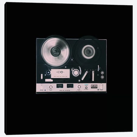 Reel to Reel on Black Canvas Print #TQU323} by Tom Quartermaine Canvas Artwork