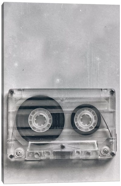 Retro Cassette Grunge Canvas Art Print