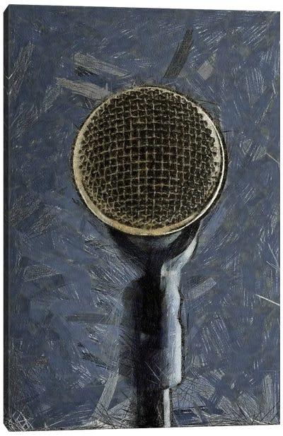 Retro Microphone I Canvas Art Print