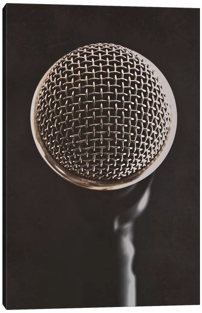 Retro Microphone II Canvas Art Print