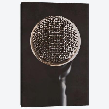 Retro Microphone II Canvas Print #TQU328} by Tom Quartermaine Canvas Wall Art