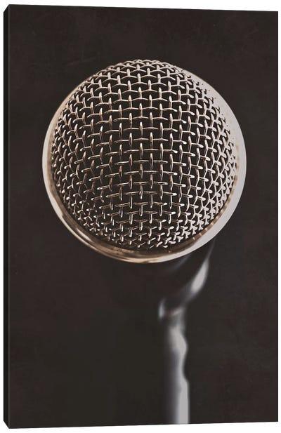 Retro Microphone II Canvas Art Print