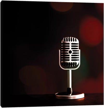 Retro Microphone IV Canvas Art Print
