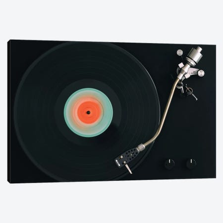 Spinning Record Canvas Print #TQU332} by Tom Quartermaine Canvas Print