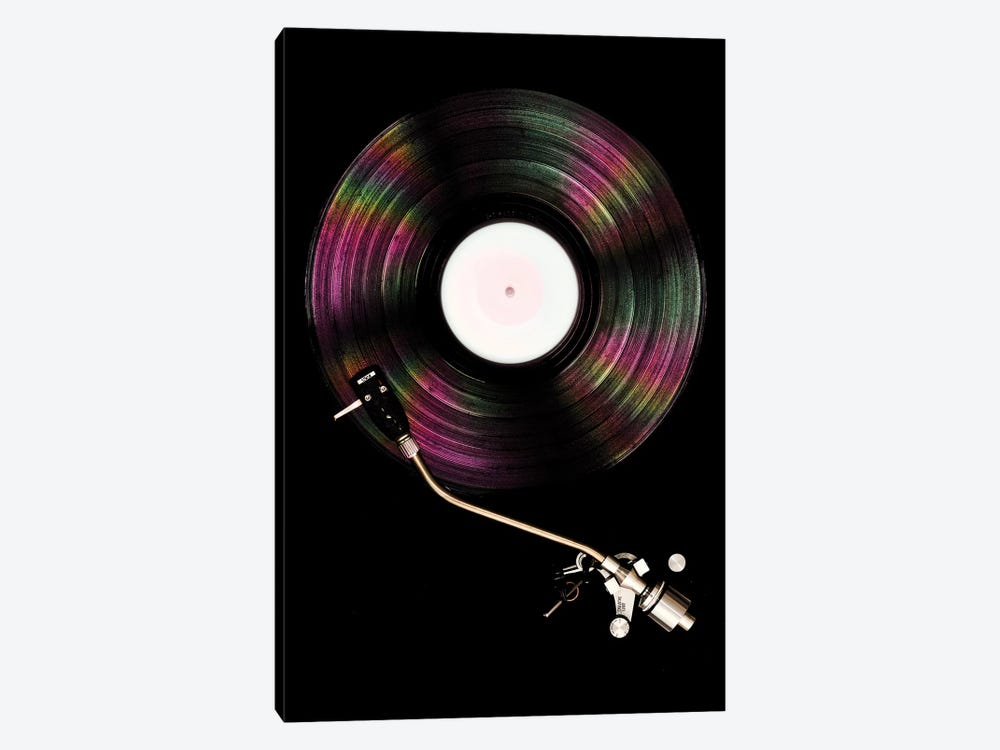 Spinning Record Portrait Colour by Tom Quartermaine 1-piece Canvas Artwork