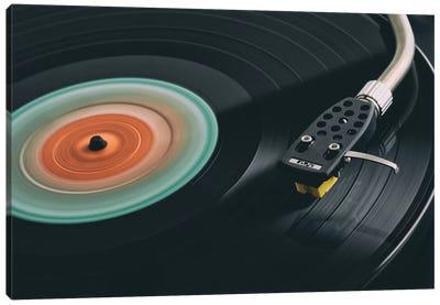 Spinning Record Retro Canvas Art Print