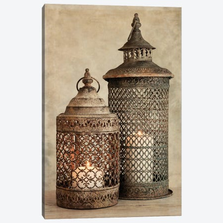 2 Lanterns I Canvas Print #TQU3} by Tom Quartermaine Canvas Artwork