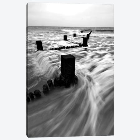 B&W Seascape I Canvas Print #TQU48} by Tom Quartermaine Canvas Artwork