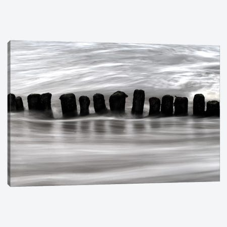 B&W Seascape V Canvas Print #TQU49} by Tom Quartermaine Canvas Art