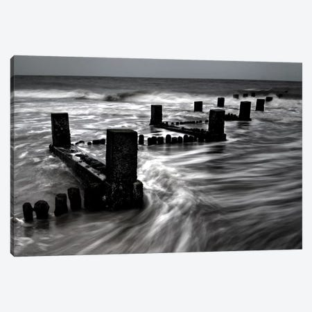 B&W Seascape VI Canvas Print #TQU50} by Tom Quartermaine Art Print