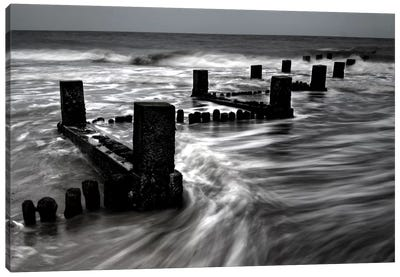 B&W Seascape VI Canvas Art Print